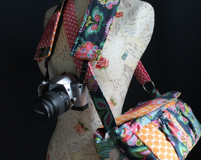 Watermelon Wishes Large Patchwork Camera Bag + Strap Cover + Free Monogram