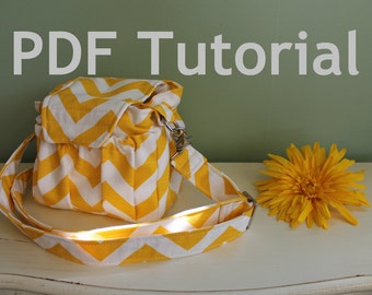 PDF Sewing Tutorial Watermelon Wishes Padded Camera Bag --- How to sew guide