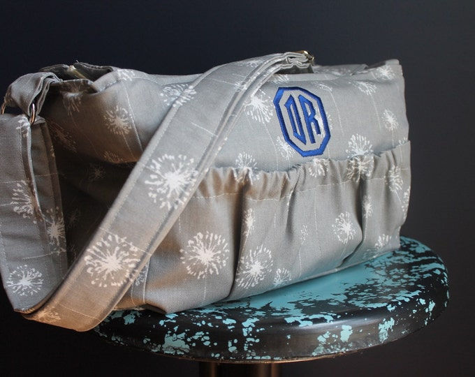 Large Padded Custom Zip Top Zippered Camera Bag with Monogram Personalization