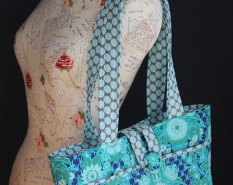 Vintage Inspired Market Tote Bag Purse --- Custom made to order from your favorite fabric combination