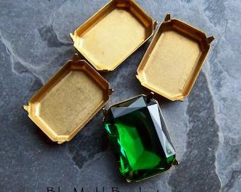 Vintage Filigree Findings Teardrop Victorian Base Settings Antique Brass 831WR boho