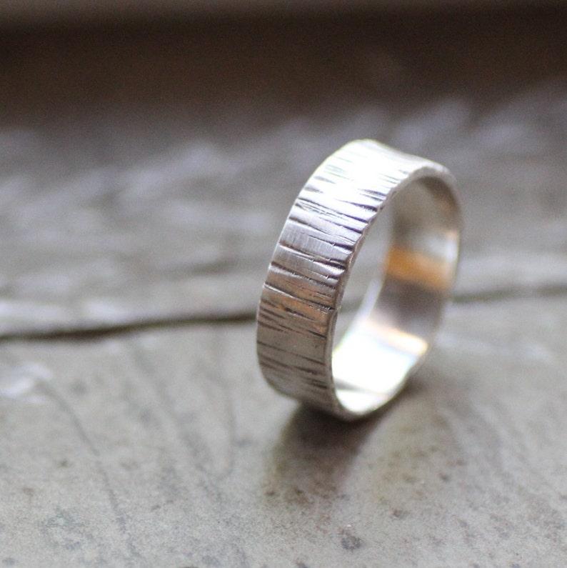 Silver Tree Bark Ring image 0