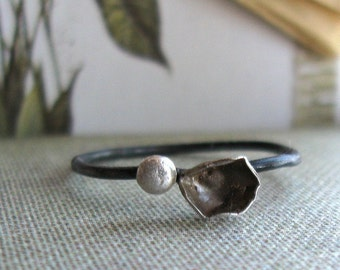 Engagement Ring Unique Handmade Sterling Stacking Ring
