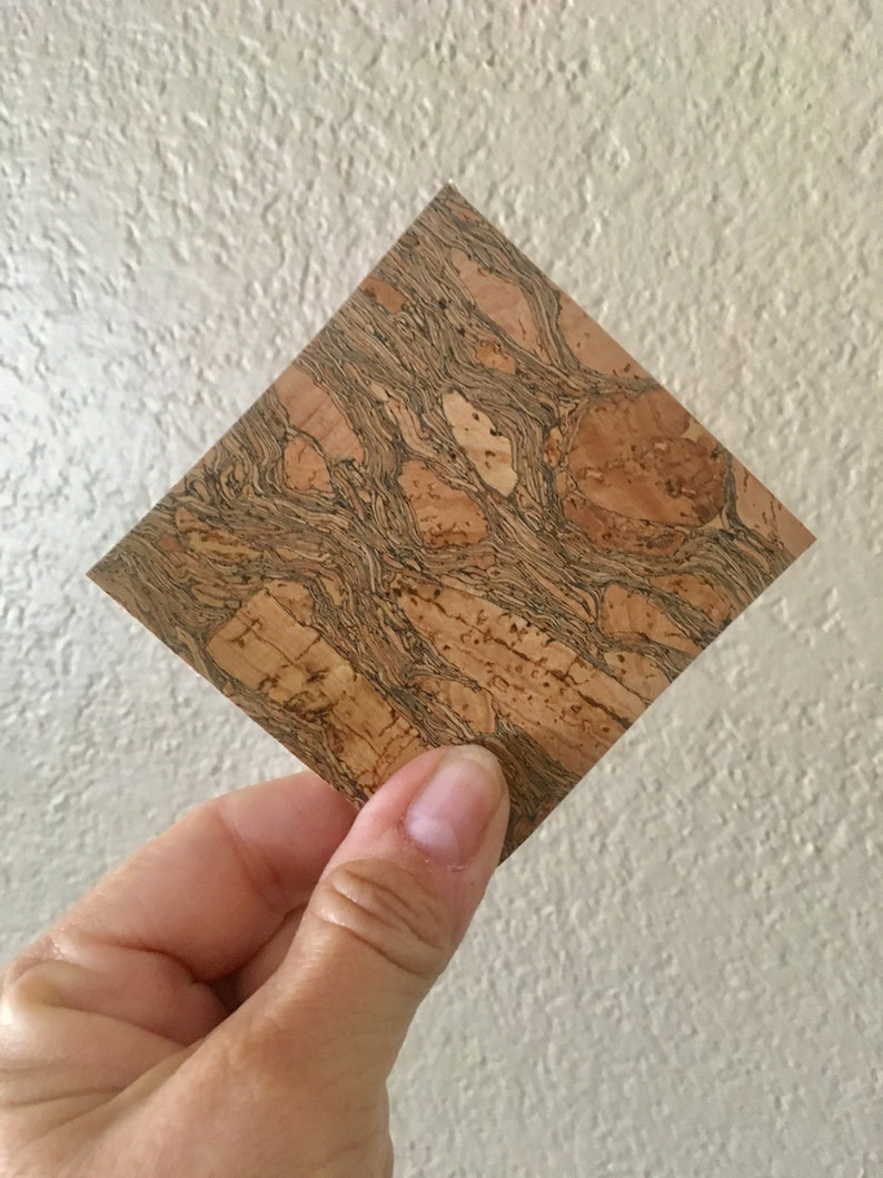 Cork Fabric Square  Your Choice of Size image 0