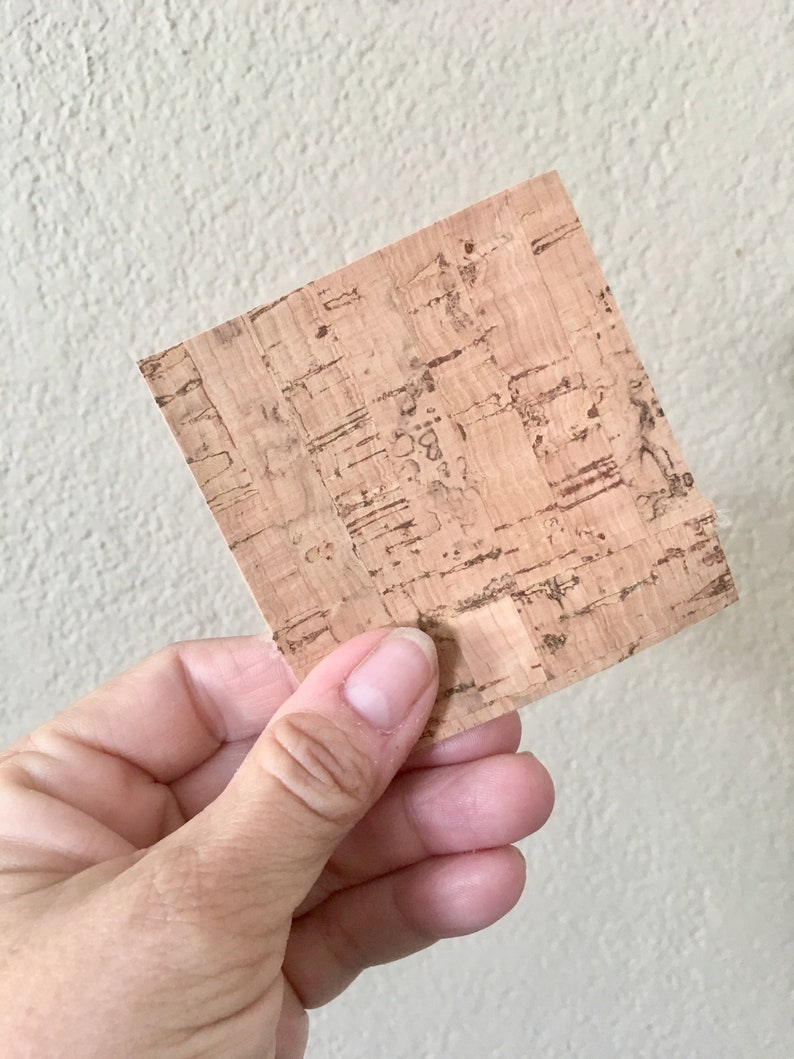 Natural Cork Fabric Square  Your Choice of Size image 0