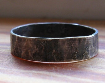 Handmade Rustic Distressed Sterling Silver Ring for men or women