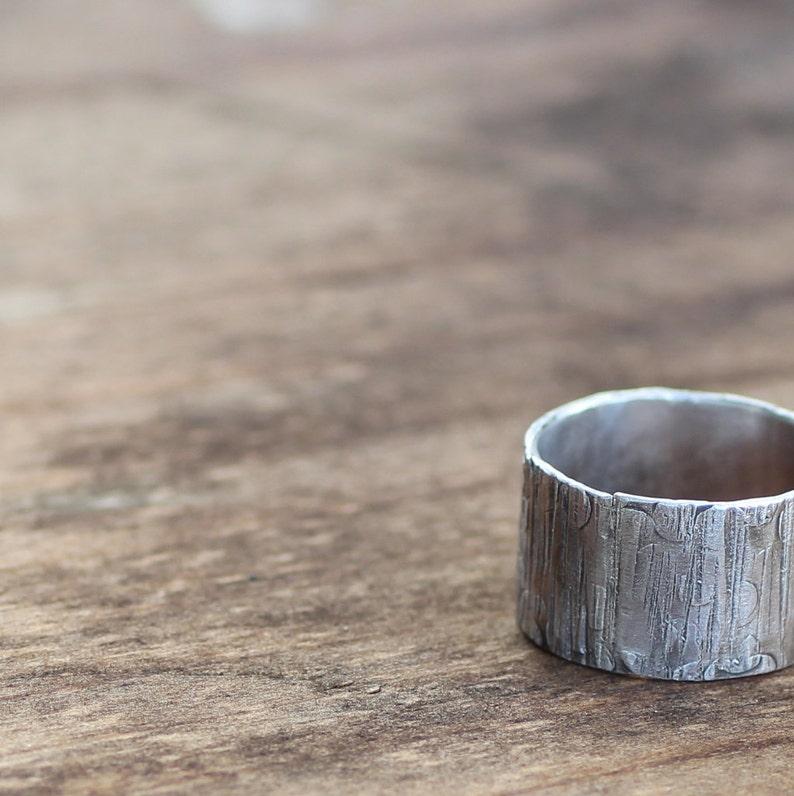 Tree Bark Mens Ring image 0