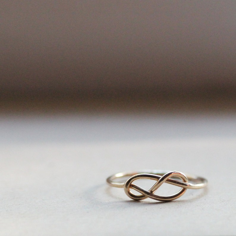 14k Gold-Filled Rustic Infinity Ring   Great Stocking Stuffer image 0