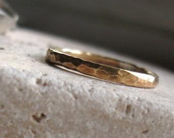 14k gold-filled Unisex hammered ring