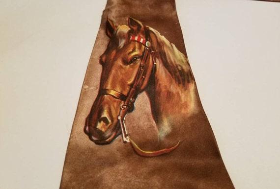 Vintage Necktie Western Horse Master Prints by Arc