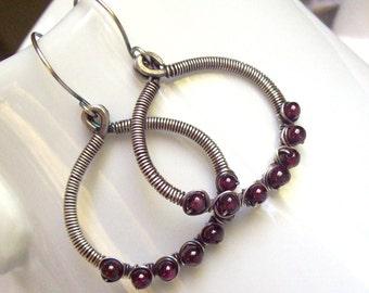 The Garnet Grove Earrings