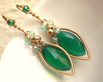 The Lady in Green Earrings
