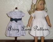 18 inch AG doll clothes PDF Sewing Pattern Sabrina Dress Boutique 18 inch doll clothing Pattern Avery Lane PDF Dress Pattern