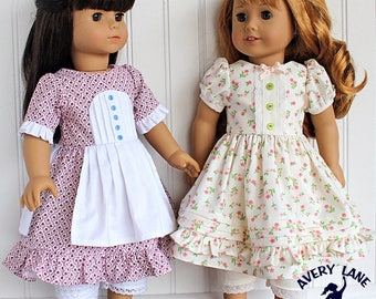 """18 inch doll Clothes Sewing Pattern Little Miss Storybook Dresses 18"""" doll clothing Muffet Red Riding Hood Bo Peep Gretel"""