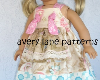 15 inch doll clothes pattern Apron Knot Dress Sewing Pattern for 15 inch doll  PDF clothing Pattern Patron