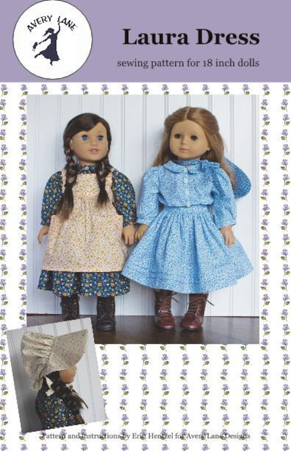 18 Inch Doll Clothes Sewing Pattern Laura Dress Pattern Etsy