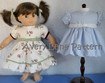 15 inch doll clothes pattern Lily Bubble Dress and Top Doll Clothing Sewing Pattern 15 inch size doll  PDF Pattern instant download