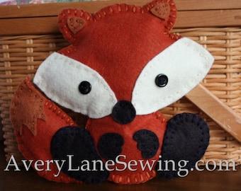 AveryLane Hand Sewing Project Felt Fox Stuffie PDF Pattern