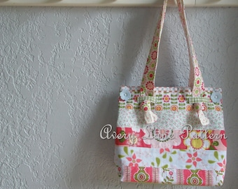 Little Miss Tote Bag with knot straps  by Avery Lane Designs PDF Pattern instant download
