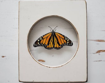 MONARCH BUTTERFLY Bend Cider Co Fine art print of original painting Hand signed by Sheila Dunn