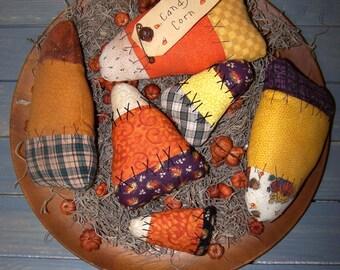 Handmade Primitive Halloween Thanksgiving Candy Corn Shelf Sitter Tuck
