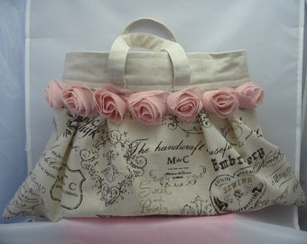 Victorian roses bag