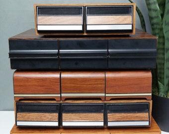 United Musicmate Cassette Tape Holder Cabinet Single Drawer Storage Holds 30 Case Music