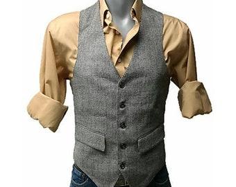 70's bill blass mens wool waistcoat vest