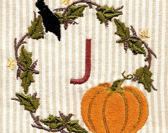 PUMPKIN MONOGRAMS.Thanksgiving. For the 4x4 hoop  Machine Embroidery Designs