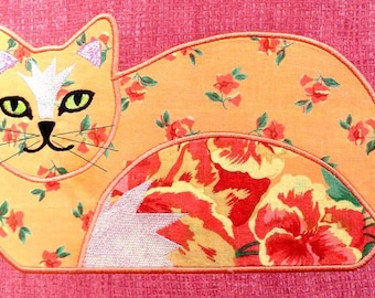 CAT APPLIQUES Machine Embroidery Designs