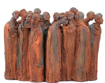 Gathering Ceramic art sculpture