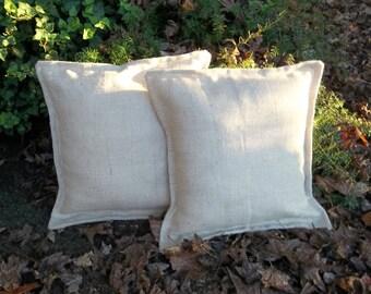 Pair White Metallic Burlap Pillows READY to SHIP Oyster White Pillows 20 x 20