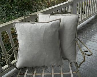 Pair Custom Linen Pillows Linen Pillow Shams Custom Sizes Fabrics Decorative Pillows French Country Bedroom Pillows Throw Pillows
