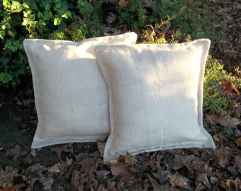 Metallic White Burlap Pillows Custom Burlap Pillows Sparkly Burlap Pillows White Decorative Pillows Holiday Pillow Covers Single or Pair