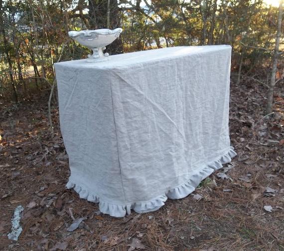 Floor Length Tablecloth Fitted Slipcover Table Cloth Custom Etsy