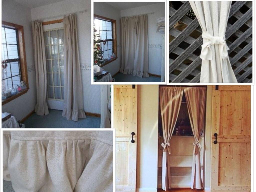 Natürliche Baumwolle Vorhang Bauernhaus die Rüschen Vorhang | Etsy