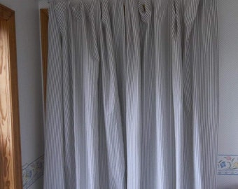 Custom Ticking Drapes Ticking Curtains Panel Custom Colors Striped Curtains French Country