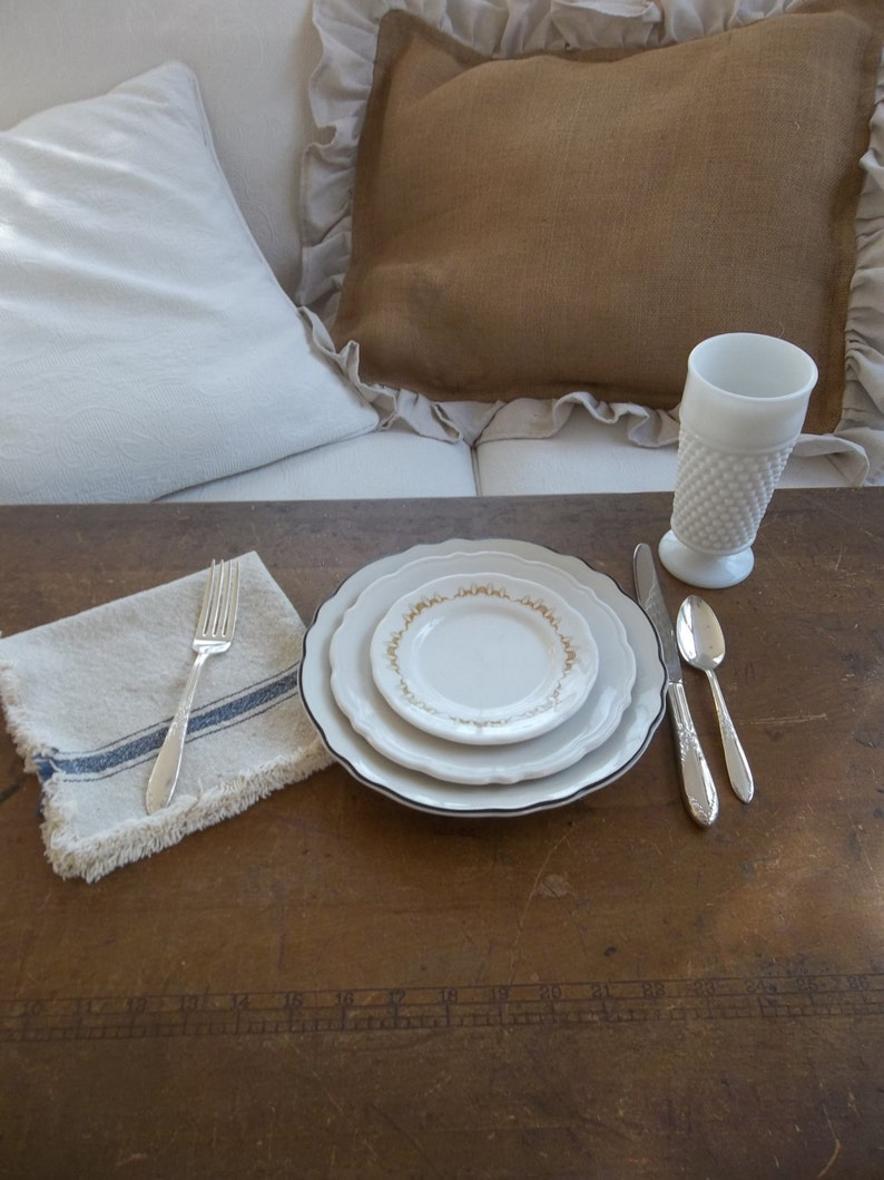 Napkin Set Of 4 Grain Sack Farmhouse Cloth Table Linens Kitchen Linen Napkins
