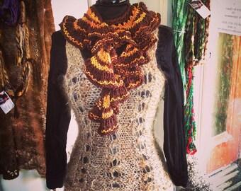 Athena lace top handspun handknit