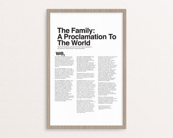 The Proclamation to the Family Printable ONLY 5 sizes!