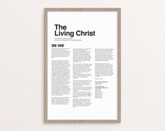 The Living Christ Printable ONLY 5 sizes!