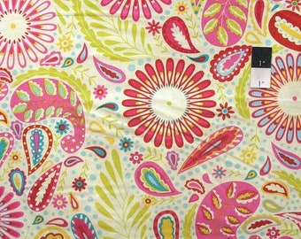 ON SALE Dena Designs DF95 Kumari Garden Sanjay Pink Cotton Fabric By Yard