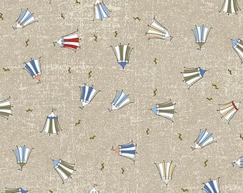 Stof Fabrics 4500-037 Little Ollie's Beach Cabana Cotton Fabric By The Yard