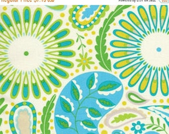ON SALE Dena Designs DF95 Kumari Garden Sanjay Blue Cotton Fabric By Yard