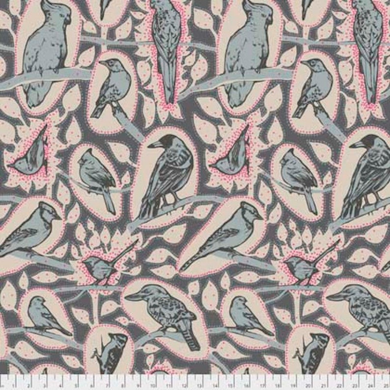 Anna Maria Horner Sweet Dreams PWAH118 Cacophony Charcoal Cotton Fabric By  Yd