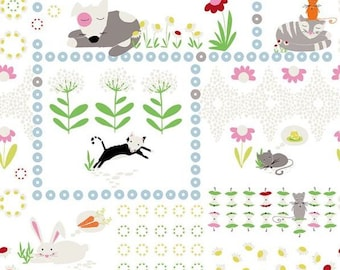 Stof Fabrics 4500-272 Daydreamers Animal Friends Cotton Fabric By The Yard