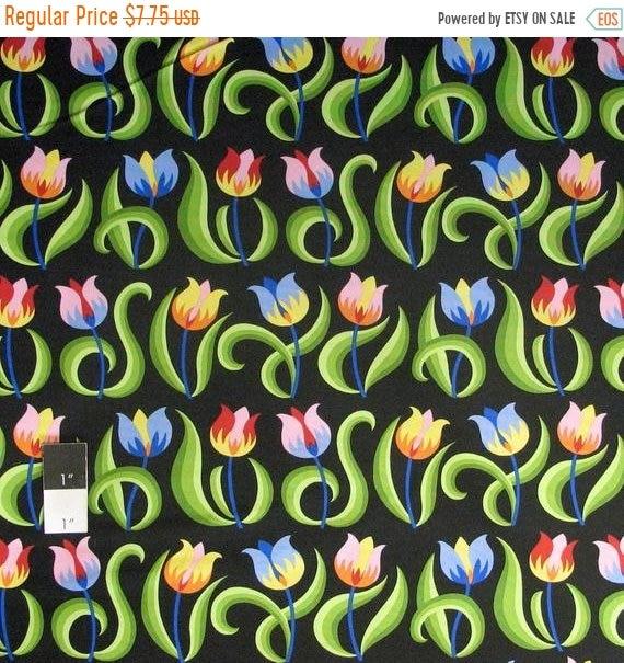 Jane Sassaman PWJS067 Prairie Chic Seed Matrix Blue Cotton Fabric By Yard