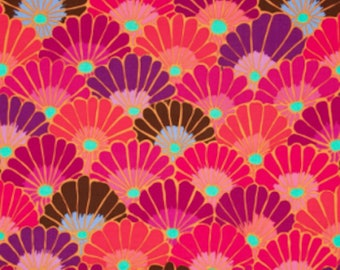 Kaffe Fassett PWGP144 Thousand Flowers Red Cotton Fabric By The Yard