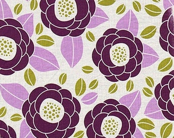 ON SALE Joel Dewberry JD45 Aviary 2 Bloom Lilac Cotton Fabric By Yard