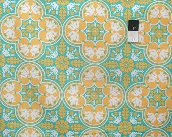 ON SALE Joel Dewberry PWJD068 Notting Hill Historic Tile Canary Cotton Fabric 1 Yard